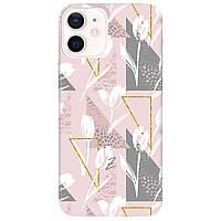 Чохол для Apple iPhone 12 White tulips