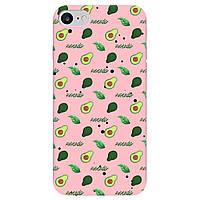 Чехол для Apple iPhone 7 нежно-розовый матовый soft touch Avocado
