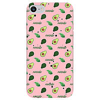 Чохол для Apple iPhone SE 2020, iPhone 7, iPhone 8 ніжно-рожевий матовий soft touch Avocado