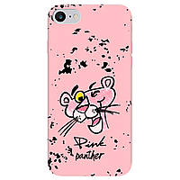 Чохол для Apple iPhone SE 2020, iPhone 7, iPhone 8 ніжно-рожевий матовий soft touch Pink Panther