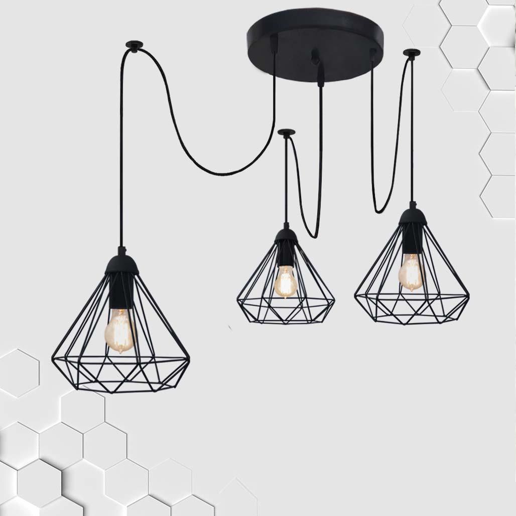 Подвесная люстра на 2-лампы DIAMOND/SP-3 E27 чёрный