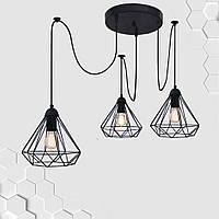 Подвесная люстра на 2-лампы DIAMOND/SP-3 E27 чёрный, фото 1
