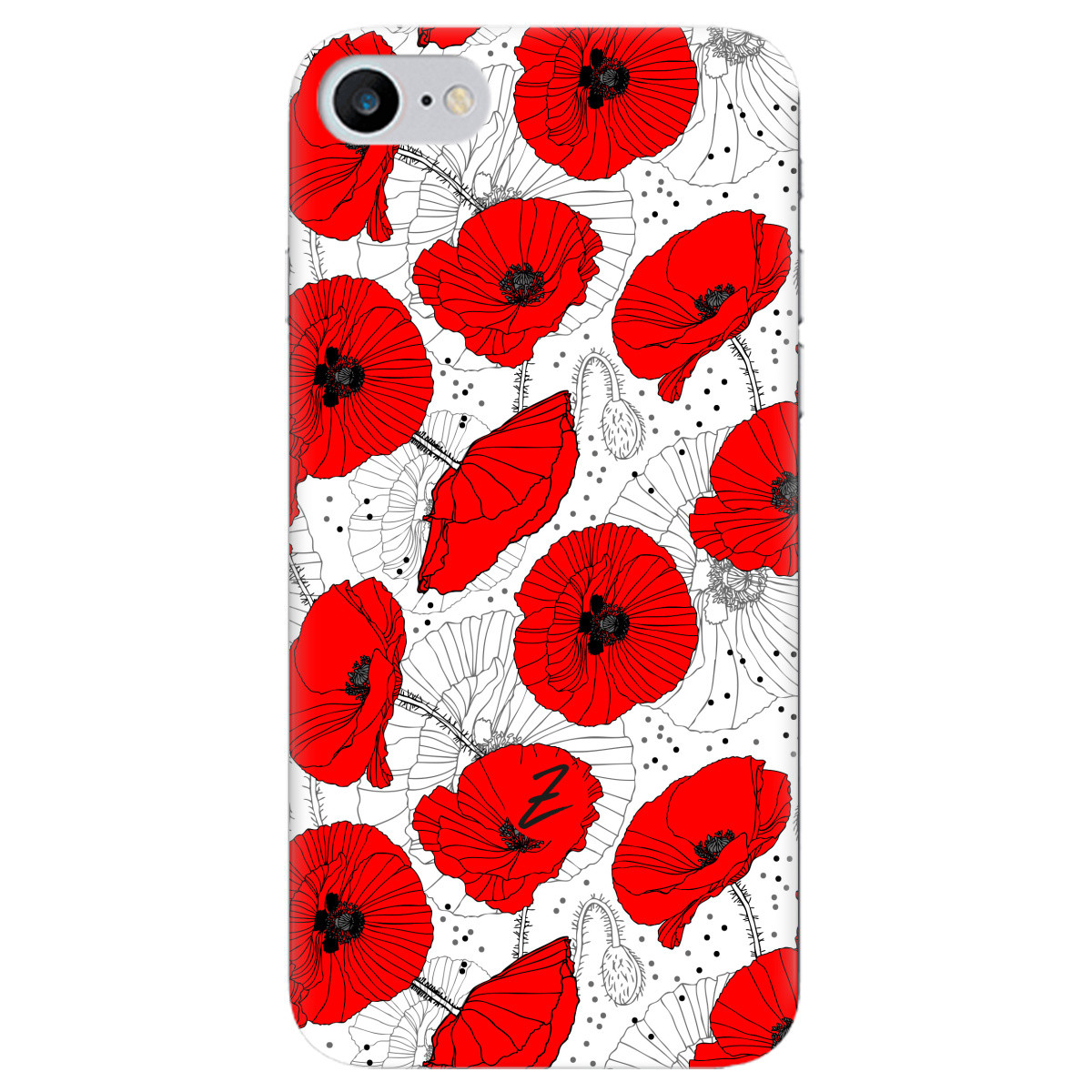 Чехол для Apple iPhone 7 Red flower