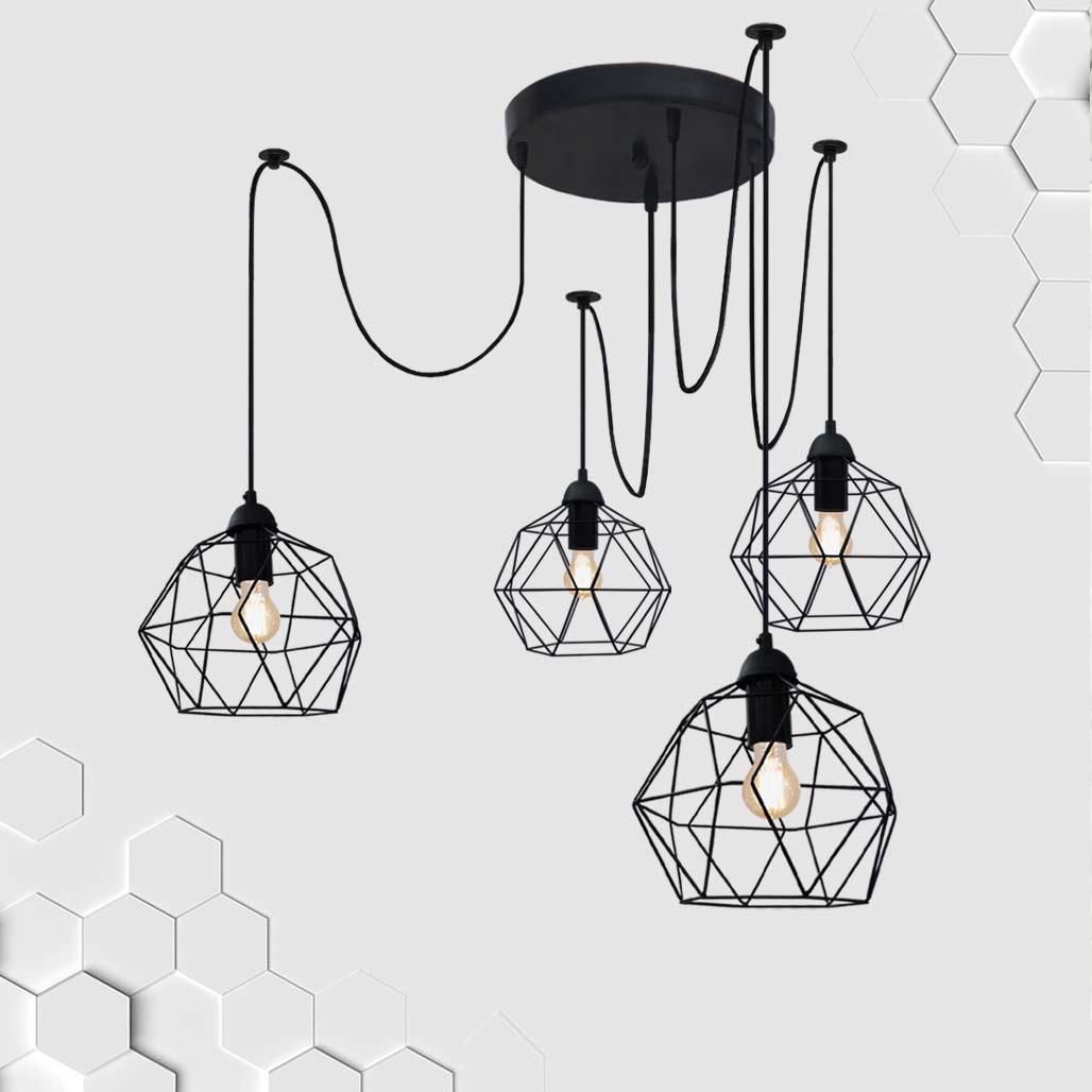 Подвесная люстра на 4-лампы ANTHILL/SP-4 E27 чёрный