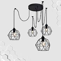 Подвесная люстра на 4-лампы ANTHILL/SP-4 E27 чёрный, фото 1
