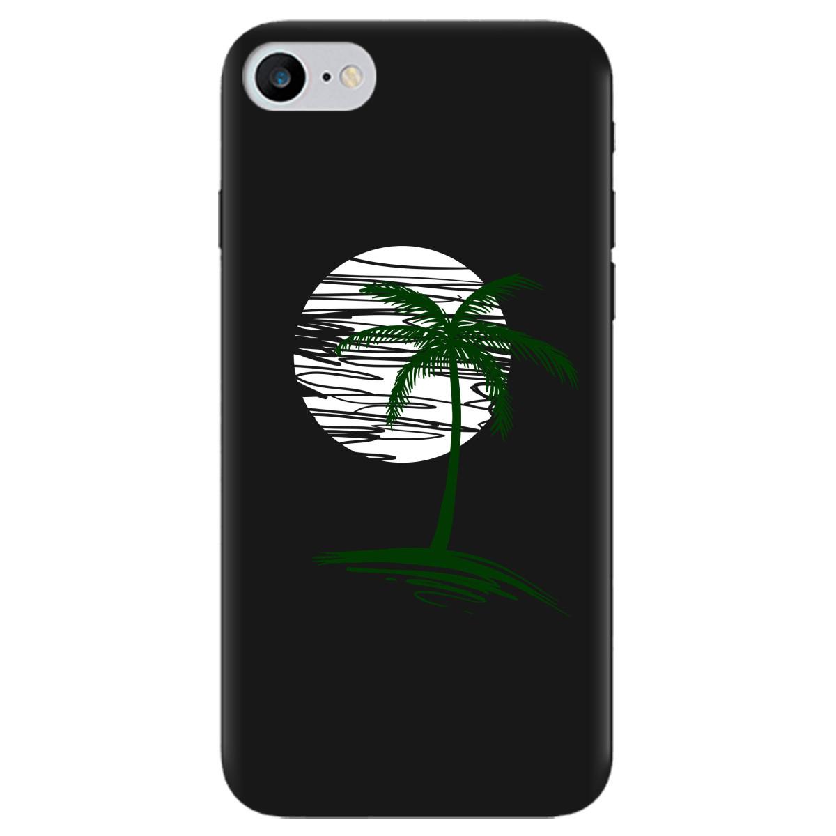 Чохол для Apple iPhone 7 чорний матовий soft touch Sunset