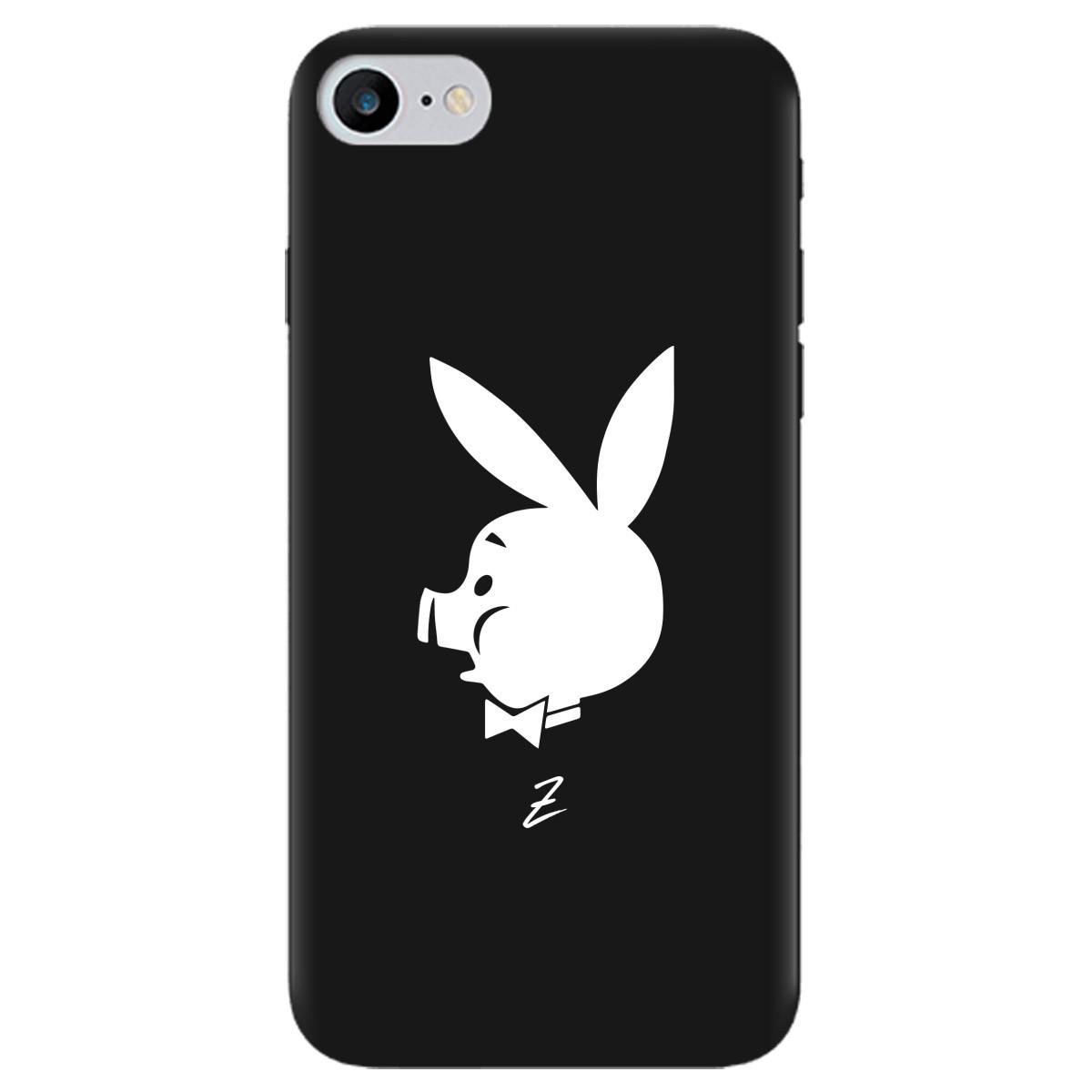 Чохол для Apple iPhone 7 чорний матовий soft touch Piggy