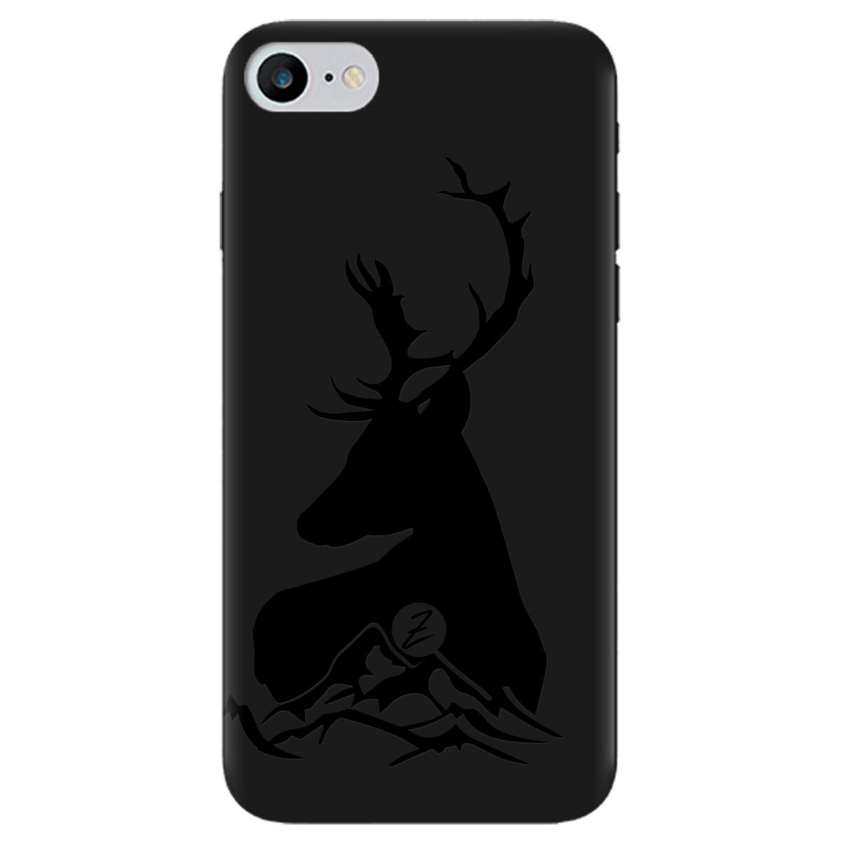 Чохол для Apple iPhone 7 чорний матовий soft touch Moral