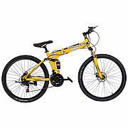 """Велосипед складной 26"""" BeGasso Soldier  рама 17"""" желтый цвет на рост 155-185 см"""