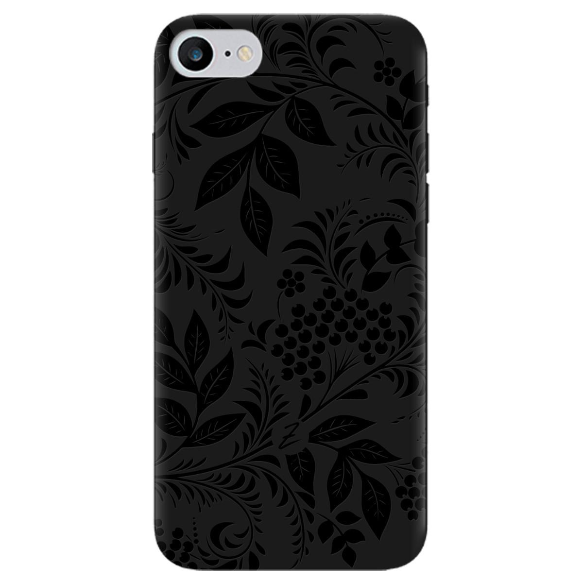 Чохол для Apple iPhone 7 чорний матовий soft touch Art