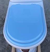 Сидіння для унітазу Monaco (Монако),блакитного кольору, оригінал, фото 1