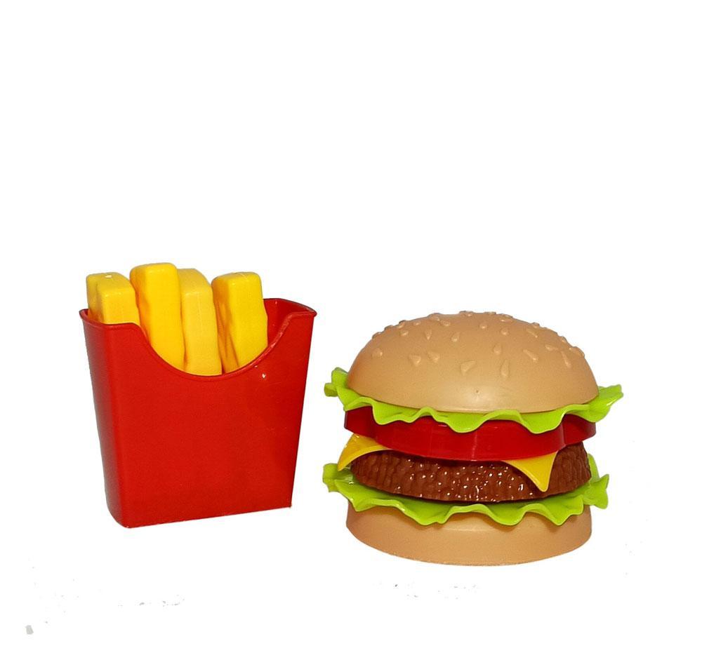"""ФастФуд """"Гамбургер и картошка Фри"""" (75шт/кор)"""