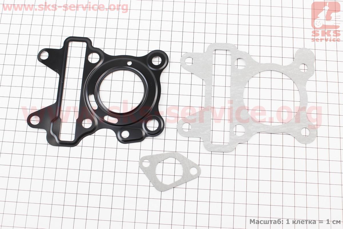 Прокладки поршневой Yamaha SA36J/VINO/GEAR 4T49сс-38мм, к-кт 3 детали (метал) (352288)