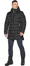 Чоловіча чорна куртка зимова з коміром-стійкою модель 49008