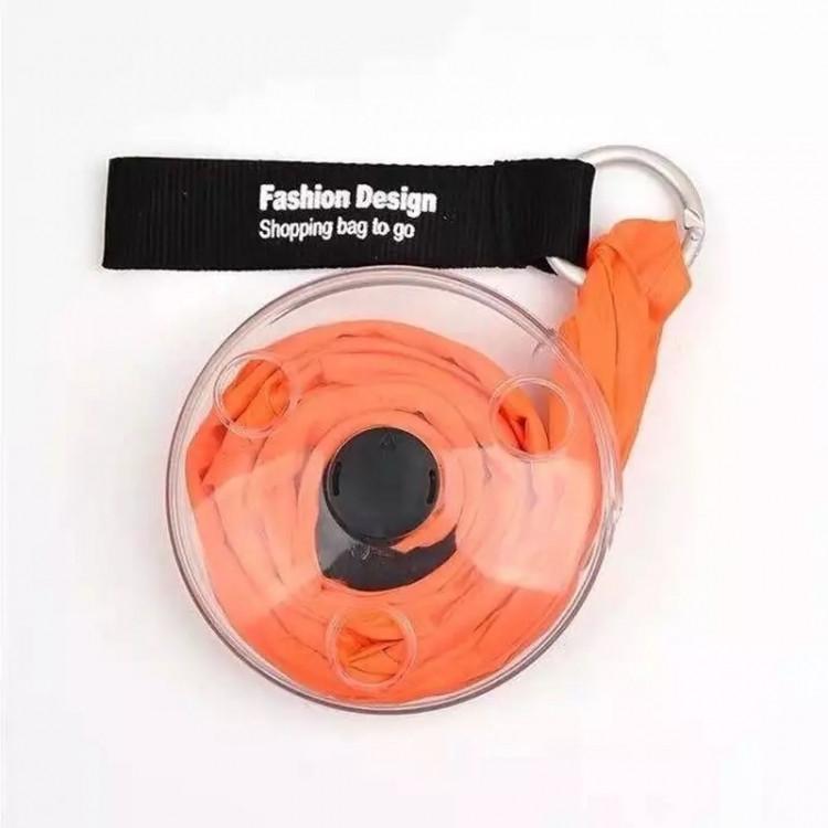 Складная сумка шоппер для покупок (оранжевый)