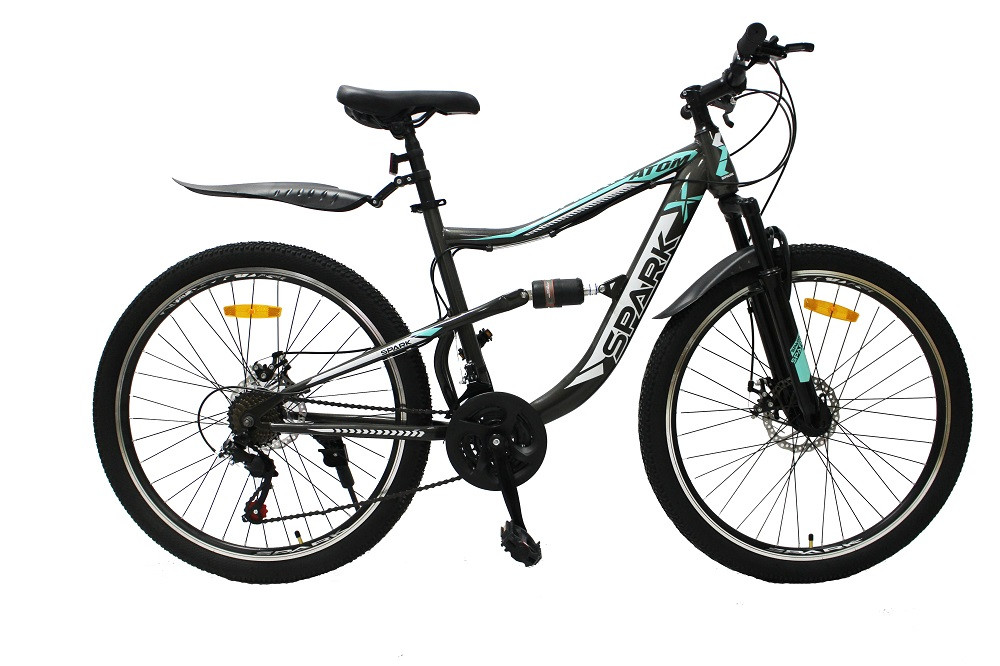Велосипед SPARK ATOM 26-ST-18-AM2-D (Серый с зеленым)