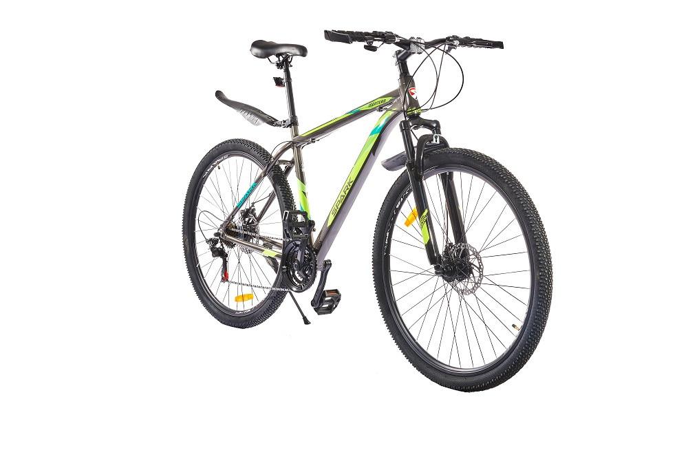 Велосипед SPARK MONTERO 29-AL-20-AM-D (Сірий з зеленим)