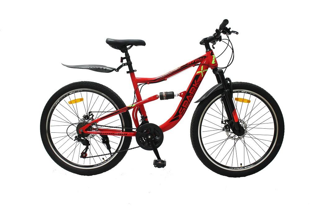 Велосипед SPARK ATOM 26-ST-18-AM2-D (Красный с зеленым)