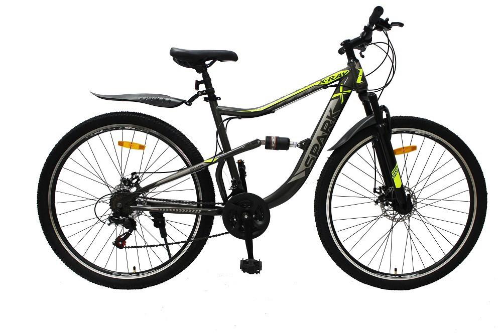 Велосипед SPARK X-RAY 29-ST-19-AM2-D (Сірий з жовтим)