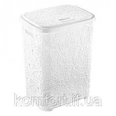 Корзина для белья Elif Ажур 322-1 Белый