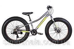 """Велосипед фетбайк 24"""" Formula PALADIN 2021 (сіро-зелений з чорним (м))"""