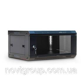 6U Шафа, 530х400х300 мм (Ш * Г * В), акрилове скло, чорний