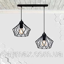 Підвісна люстра на 2-лампи CARAVAN-2 E27 чорний