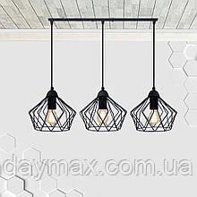Підвісна люстра на 3-лампи CARAVAN-3 E27 чорний