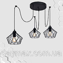Підвісна люстра на 3-лампи CARAVAN/SP-3 E27 чорний
