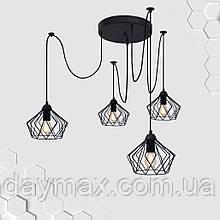 Підвісна люстра на 4-лампи CARAVAN/SP-4 E27 чорний