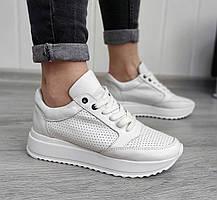 Молодежные стильные кожаные кроссовки в наличии