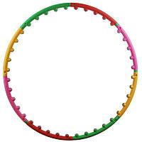 Обруч круг массажный для талии гимнастический Profi хулахуп для похудения
