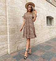 Легке плаття вільного фасону з квітковим принтом, фото 1