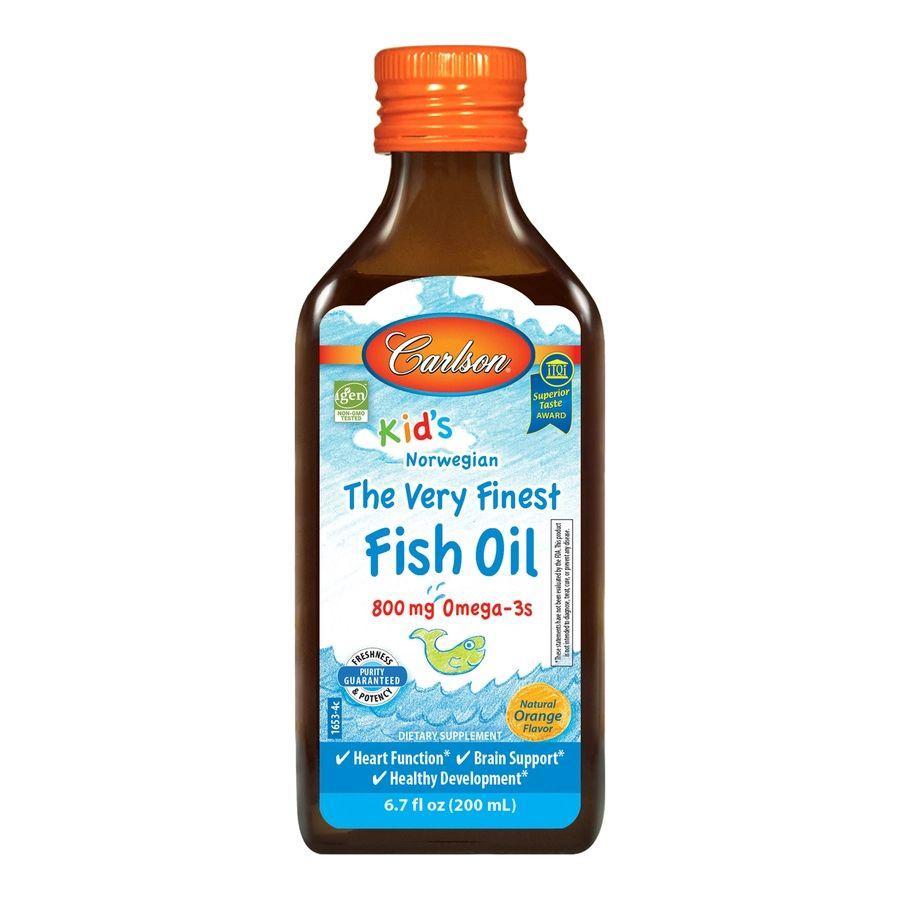 Жирні кислоти Carlson Labs kid's The Very Finest Fish Oil, 200 мл Апельсин