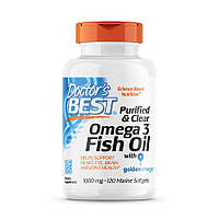 Жирные кислоты Doctor's Best Purified & Clear Omega 3 Fish Oil, 120 капсул