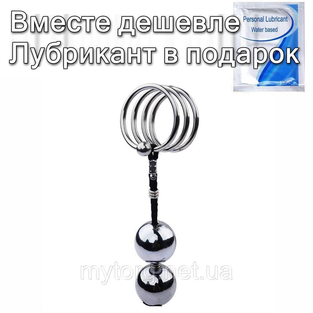 Анальные шарики с эрекционным кольцом 32 мм
