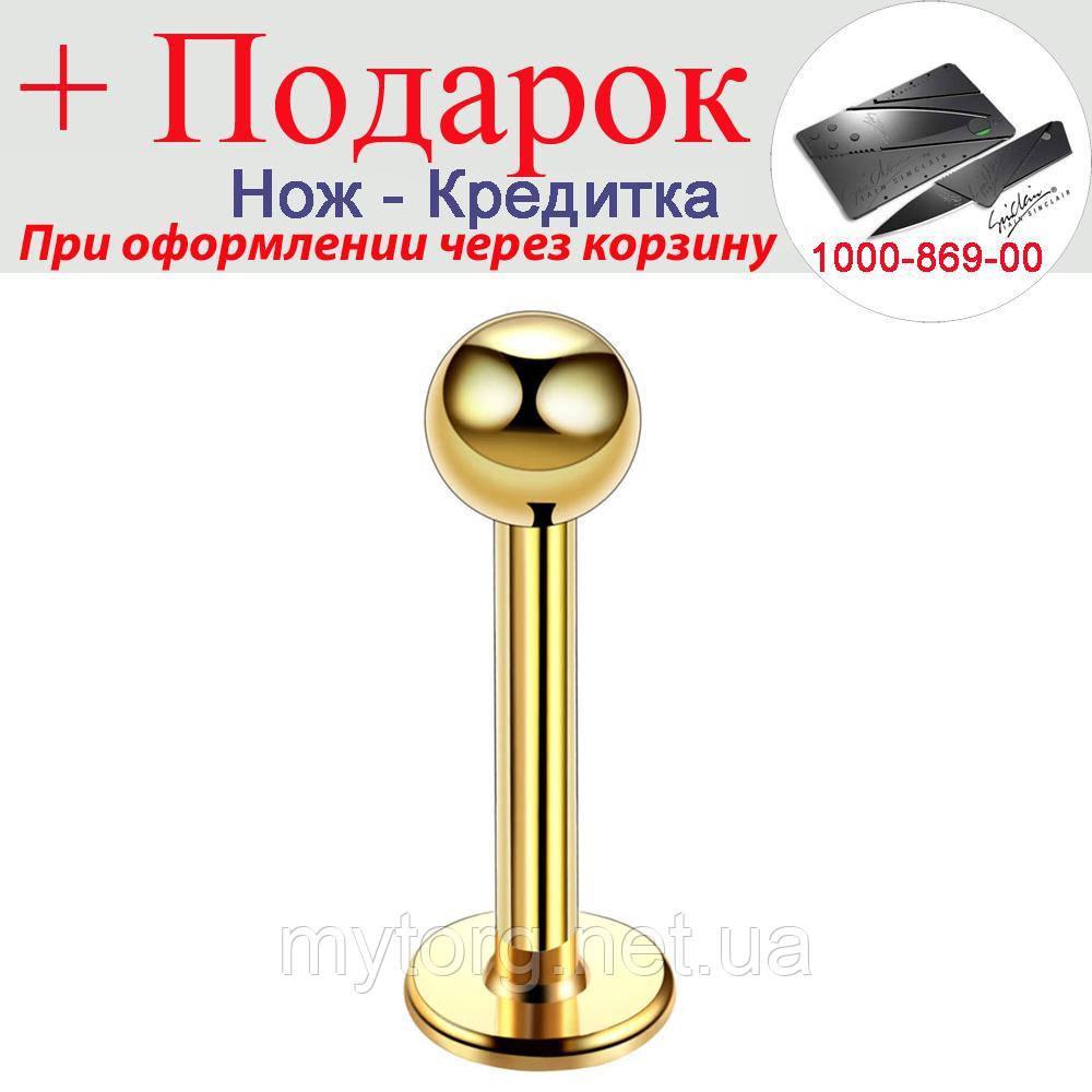 Лабрет Nail 316L классические 2 шт. лот Золотой