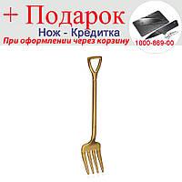 Вилка у вигляді лопати з нержавіючої сталі Золотий, фото 1