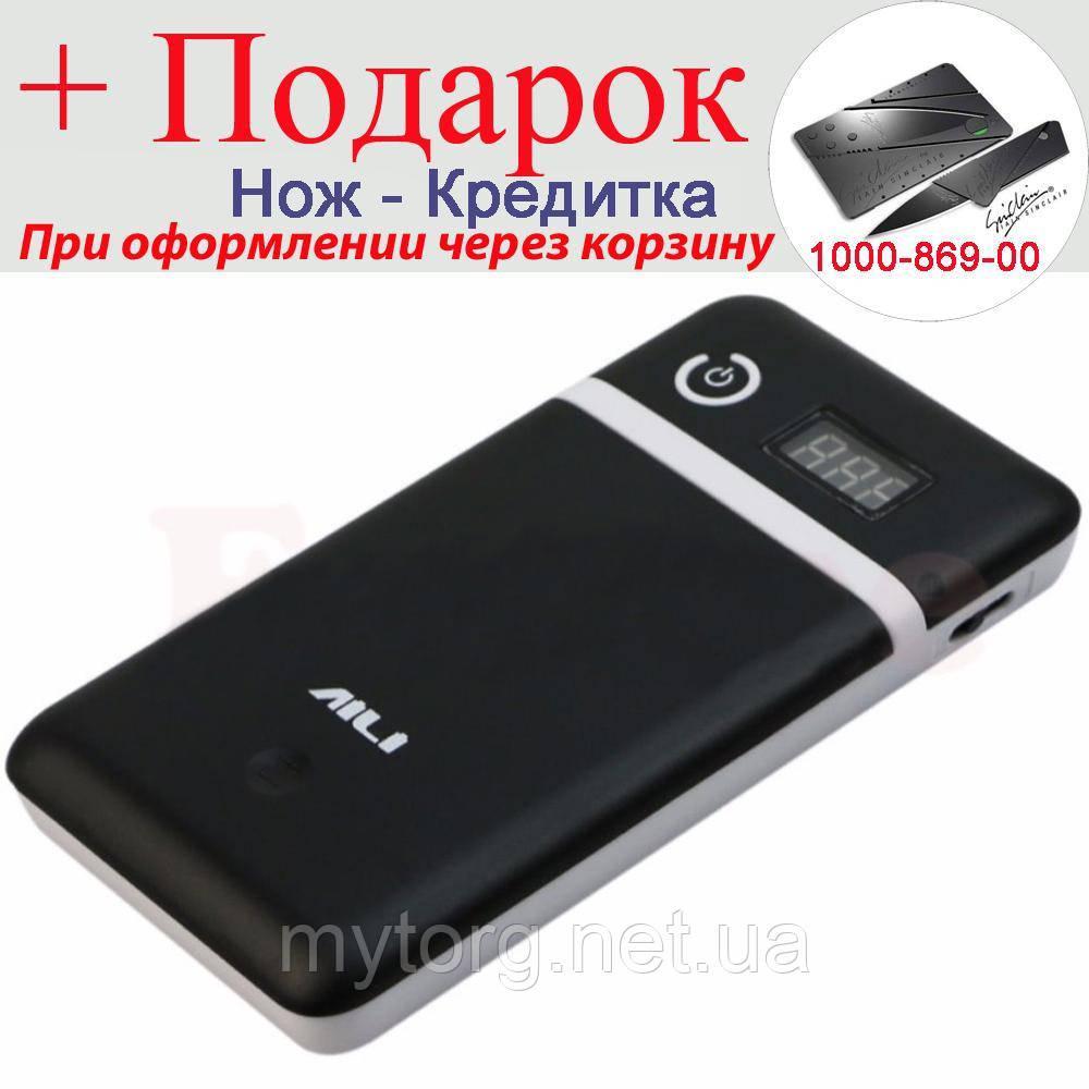 Power bank AILI кейс для ноутбуков и телефонов 6х18650 Без дополнительной комплектации Черный