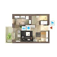 Видеонаблюдение AHD 2Мп 1 камера для квартиры
