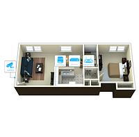 IP видеонаблюдение 1 камера (2Мп) для квартиры