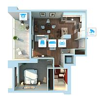 IP видеонаблюдение 2 камеры (2Мп) для квартиры