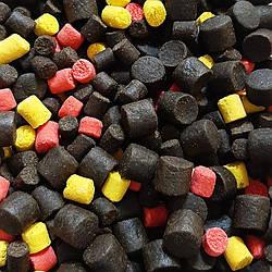 Пеллетс прикормочной Carp Halibut Fruit Mix 8,10,14мм 1кг
