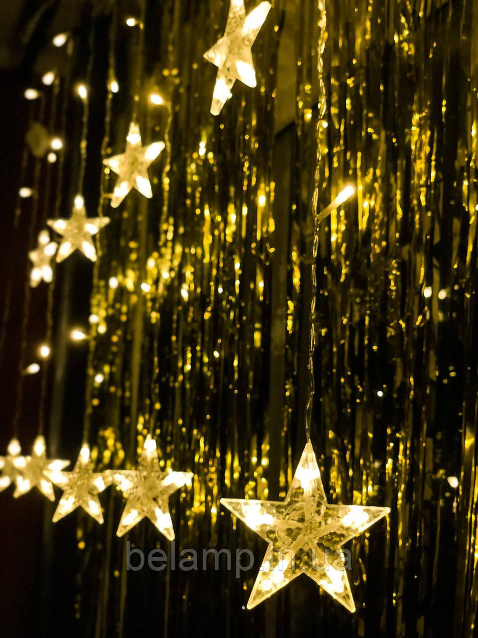 Новорічна світлодіодна гірлянда на вікно «10 зірочок»