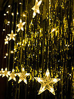Новогодняя светодиодная гирлянда на окно «10 звёздочек», фото 1