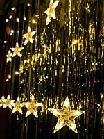 Новорічна світлодіодна гірлянда на вікно «10 зірочок», фото 1