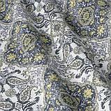 Декоративна тканина золотий вензель 19749v9 тефлон, фото 3