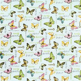 Декоративная ткань бабочки цветные пастель 87982v16