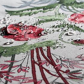 Декоративная ткань райский сад красный 20367v7 180см
