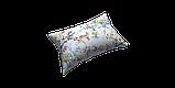 Декоративна тканина сакура червоне з жовтим на блакитному тлі 88137v6, фото 4